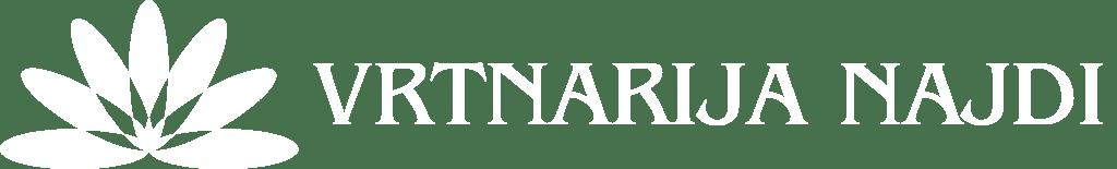 vrtnarija najdi logo lezeci bel