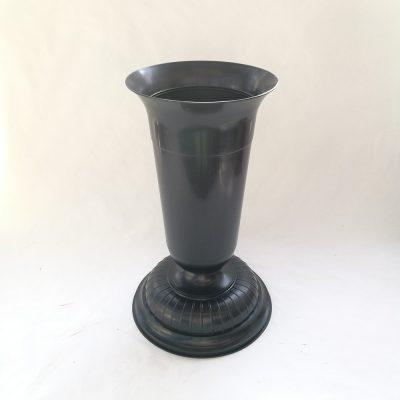 vaza nagrobna obtezena 39cm crna